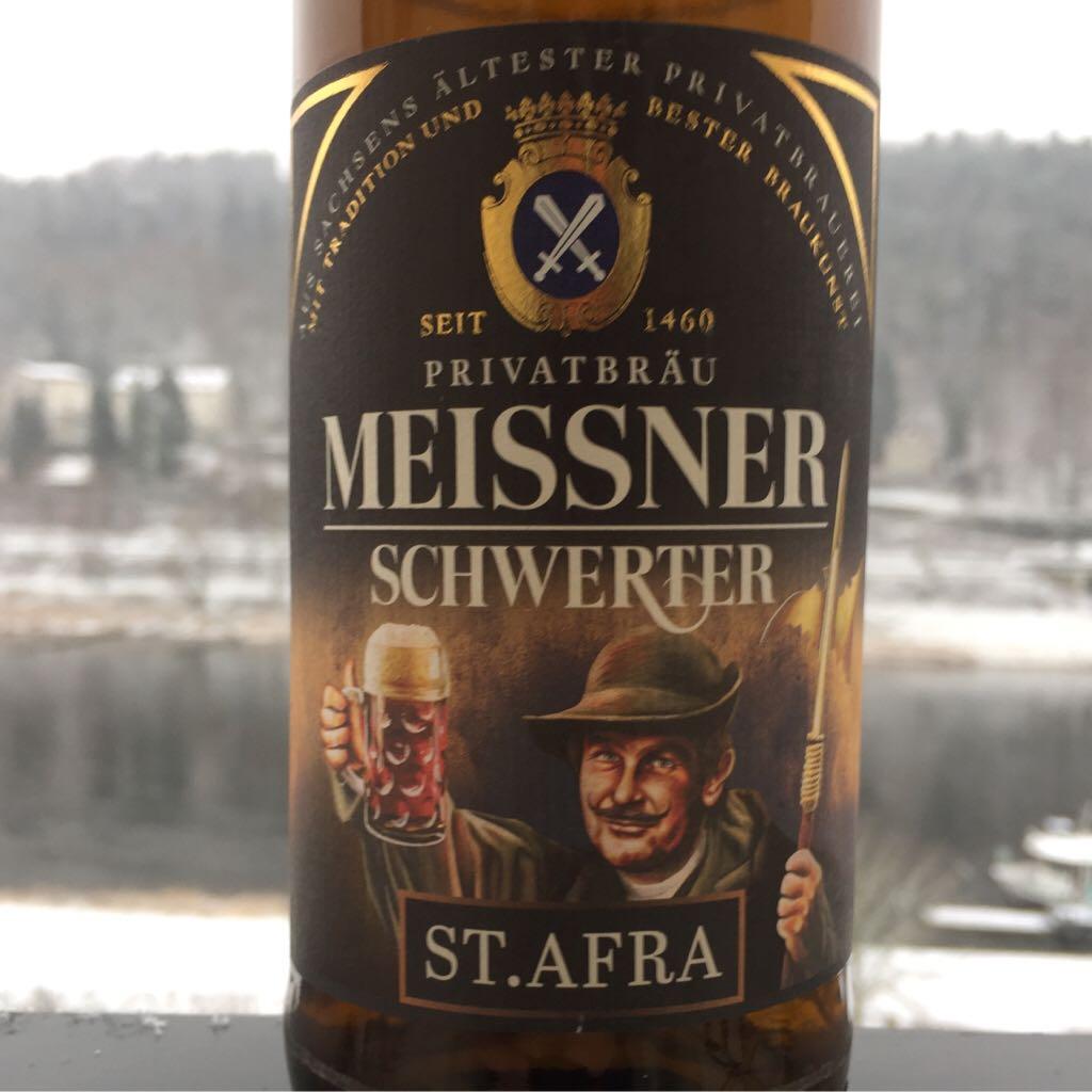 Meissner Schwerter - St. Afra Alcohol - Privatbrauerei Schwerter Meissen (Dunkles Vollbier) back image (back cover, second image)
