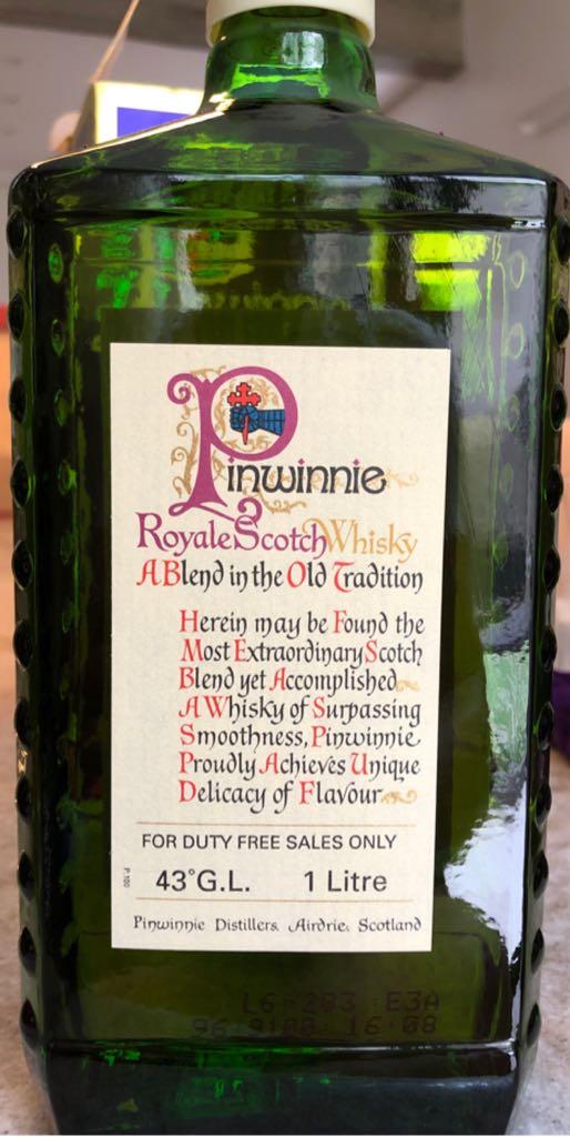 Pinwinnie Alcohol - Pinwinnie Distillers (Scotch Wisky) back image (back cover, second image)