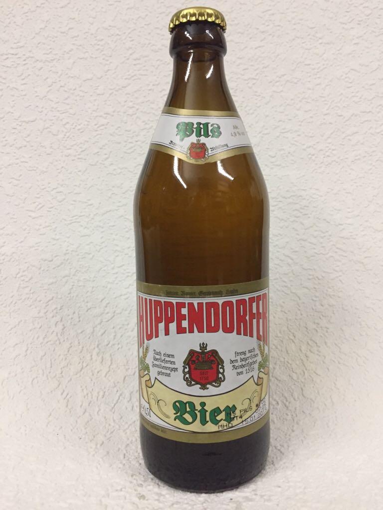 Huppendorfer Bier - Pils Alcohol - Privatbrauerei Grasser, Huppendorf (Pilsener) front image (front cover)