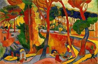 The Turning Road, Lestraque Art - Andre Derain (1906) front image (front cover)