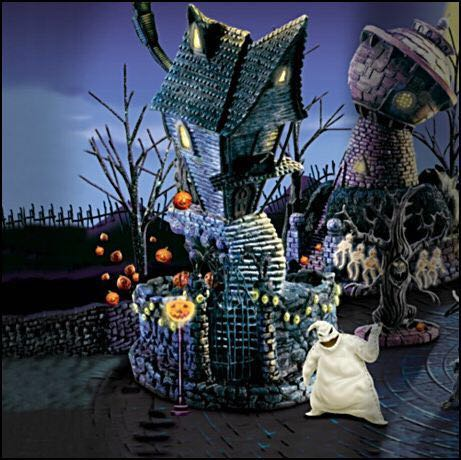nightmare before christmas jacks house bradford exchange art bradford exchange back image