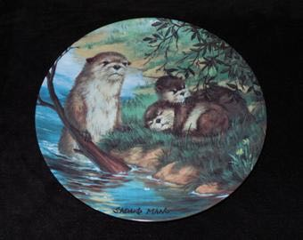 1983 River Otters Art - Sadako Mano (1983) front image (front cover)