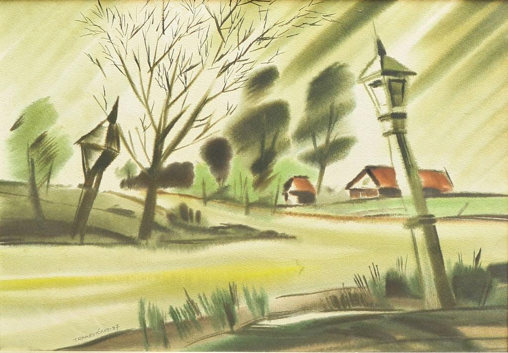 Koplytstulpis Art - Rinkevičius T. (1987) front image (front cover)