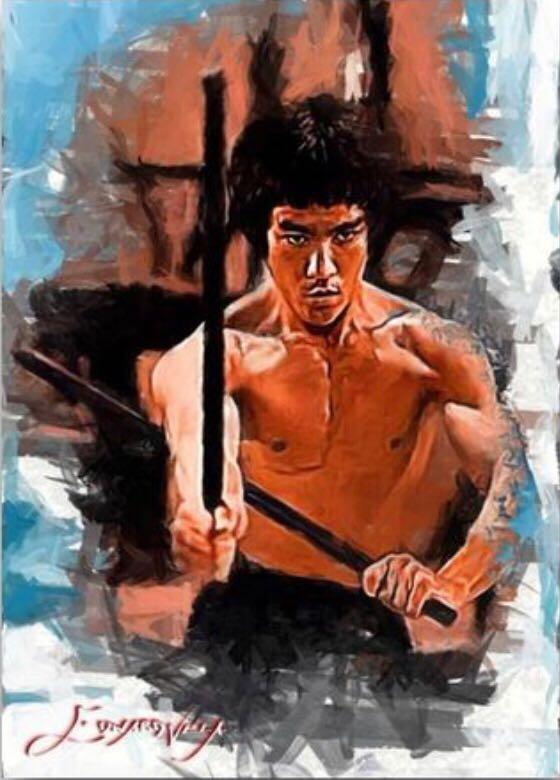 Bruce Lee #26 Sketch Card Limited 2/50 Edward Vela Signed Art - Edward Vela (2019) front image (front cover)