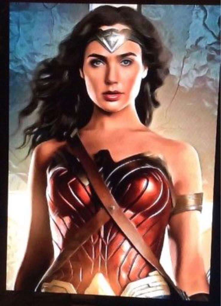 Gal Gadot Limited Edition Art Card 1 of 49 ACEO Wonder Woman Art - Unknown Artist front image (front cover)