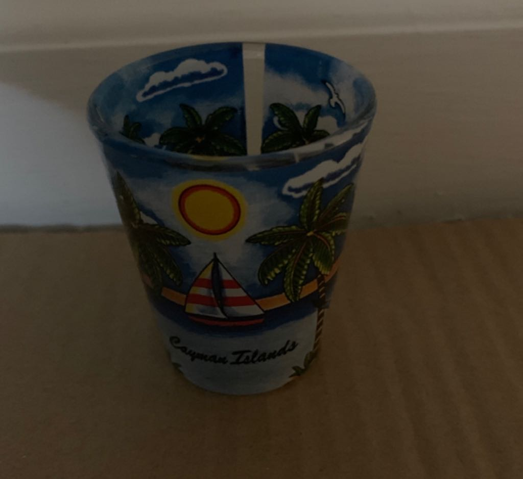 Cayman Islands Art - Shot Glass front image (front cover)