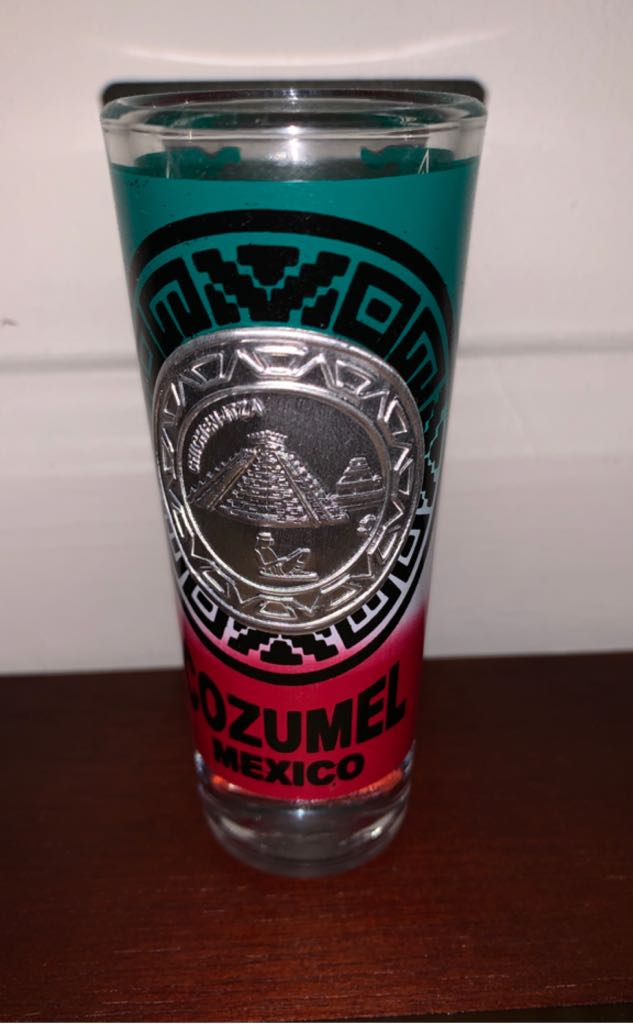 Cozumel Art - Shot Glass front image (front cover)