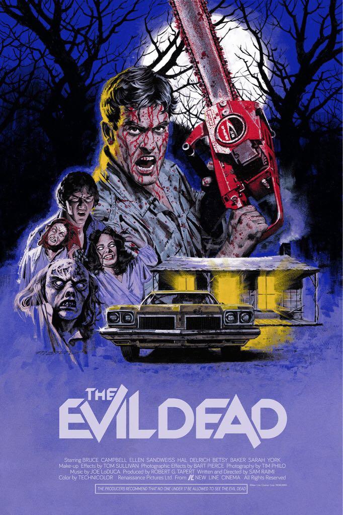The Evil Dead Art - Paul Mann (2018) front image (front cover)