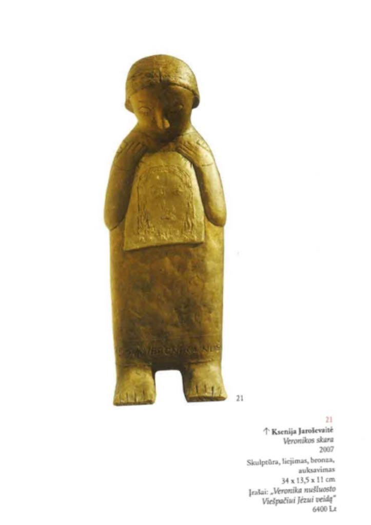 Veronikos skara Art - Jaroševaitė Ksenija (2007) back image (back cover, second image)