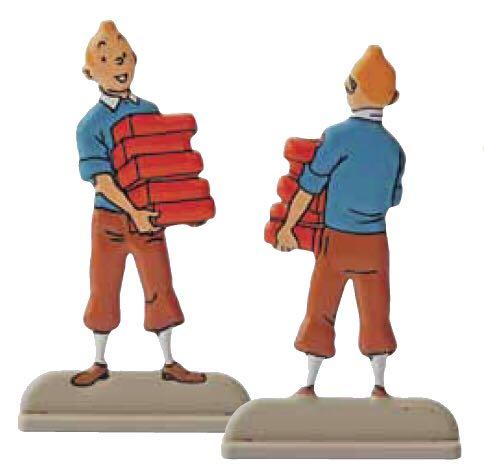 Plat d'etain Tintin Briques Art - Herge front image (front cover)