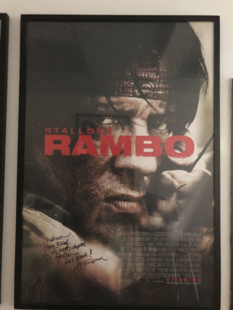Rambo movie poster Art - Unknown Artist front image (front cover)