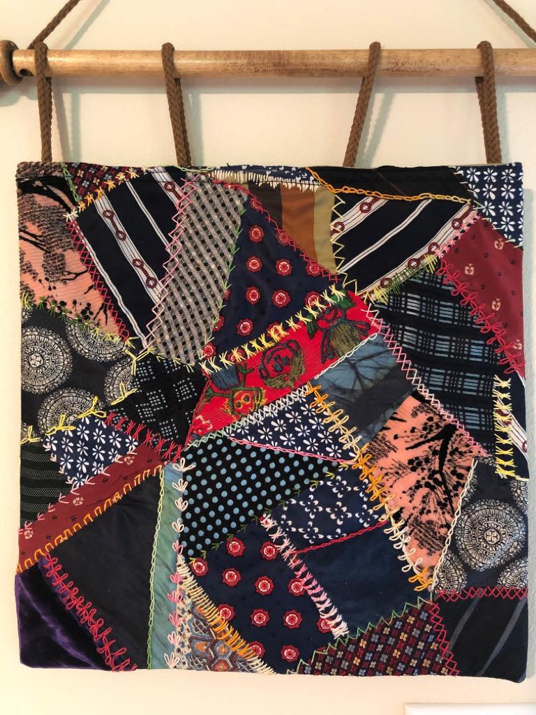 Crazy Quilt Art - Marjorie Flower front image (front cover)