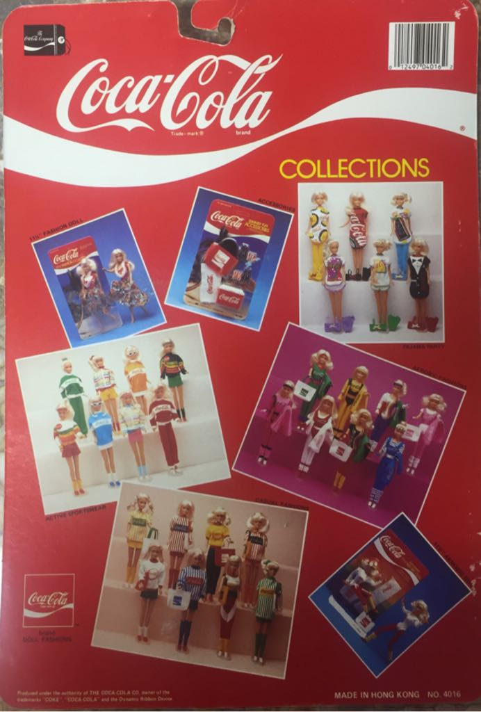 Yellow Bottle Cap Pajamas Doll And Barbie - Coca-Cola Pajama Party (1986) back image (back cover, second image)