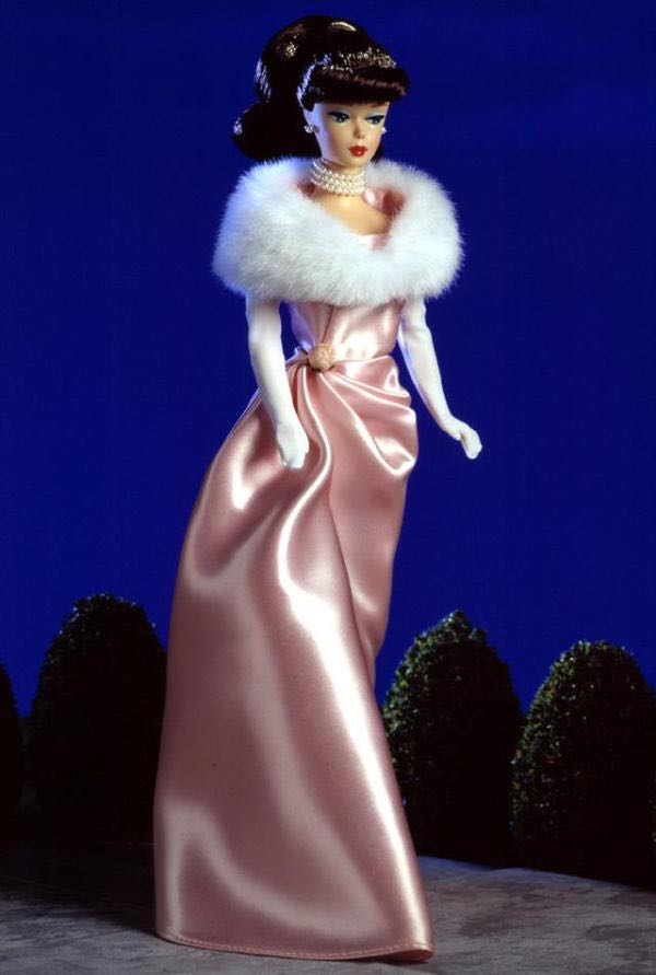 Enchanted Evening Barbie Brunette Doll And Barbie - Vintage Reproduction (1996) front image (front cover)