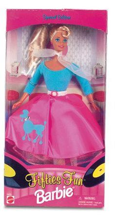 Fifties Fun Barbie Doll And Barbie - Sams Club (1996) front image (front cover)