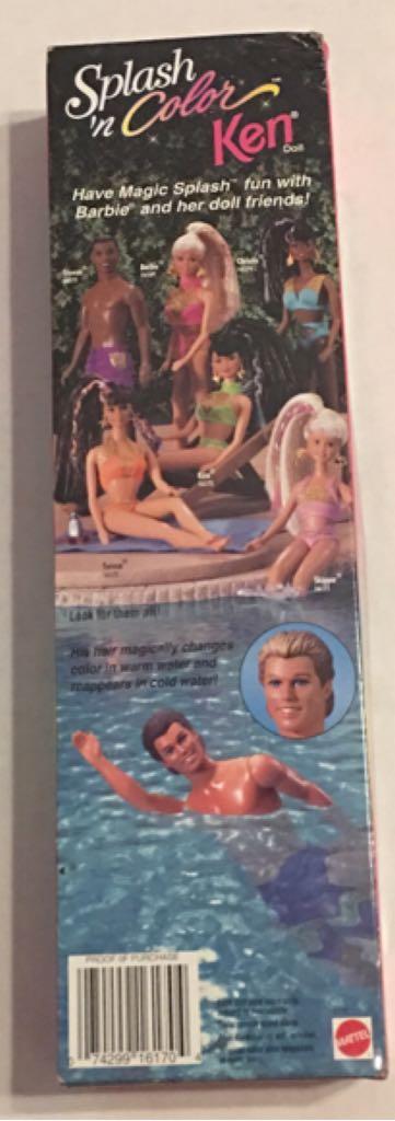 Splash N Color Ken Doll And Barbie - Ken (1996) back image (back cover, second image)