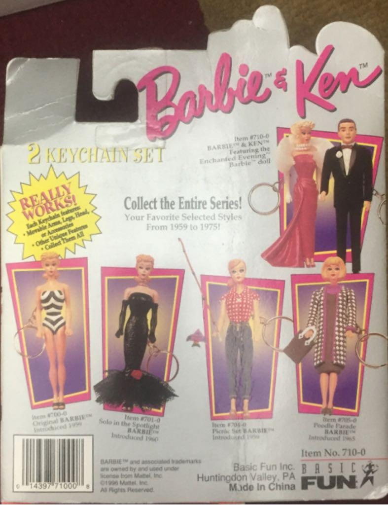 1959 Solo In The Spotlight Barbie & Ken Doll Keychains Doll And Barbie - Keychain (1996) back image (back cover, second image)