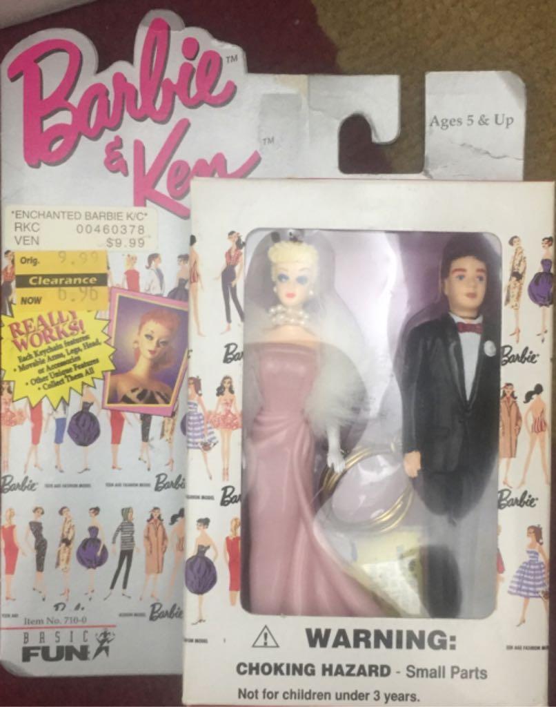 1959 Solo In The Spotlight Barbie & Ken Doll Keychains Doll And Barbie - Keychain (1996) front image (front cover)