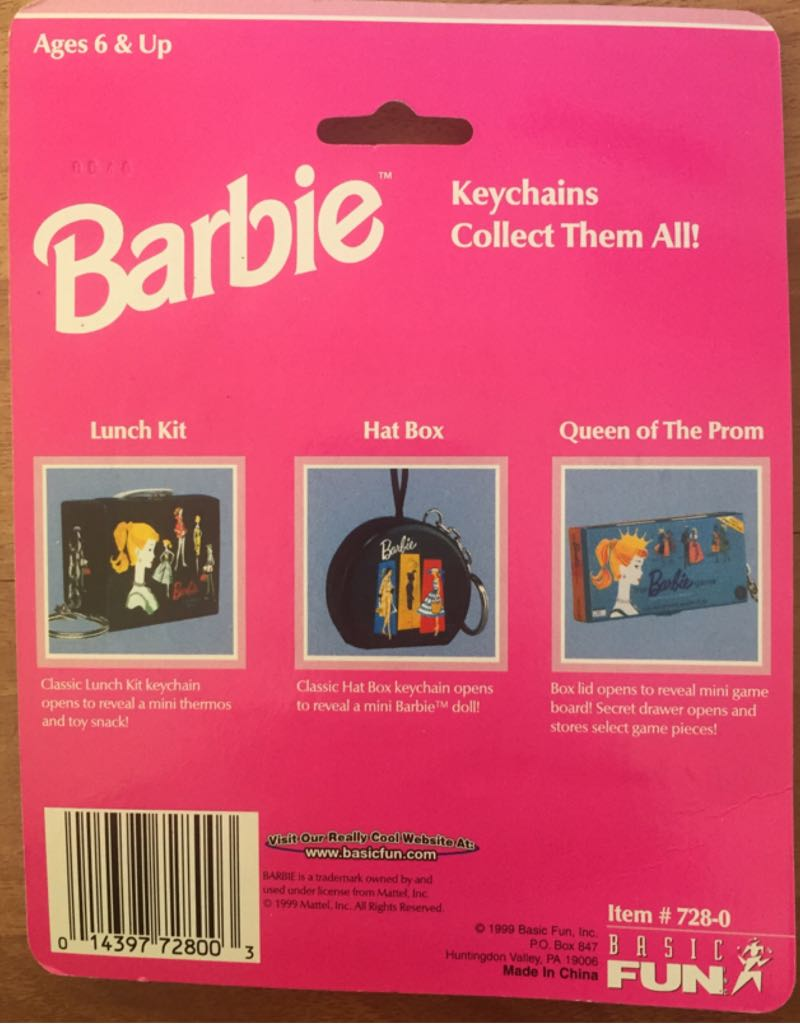 Queen Of The Prom Doll And Barbie - Keychain (1999) back image (back cover, second image)