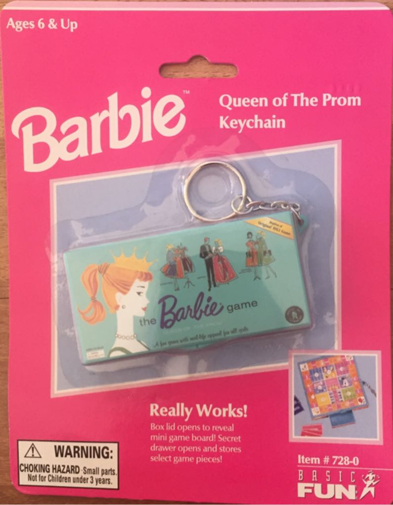 Queen Of The Prom Doll And Barbie - Keychain (1999) front image (front cover)