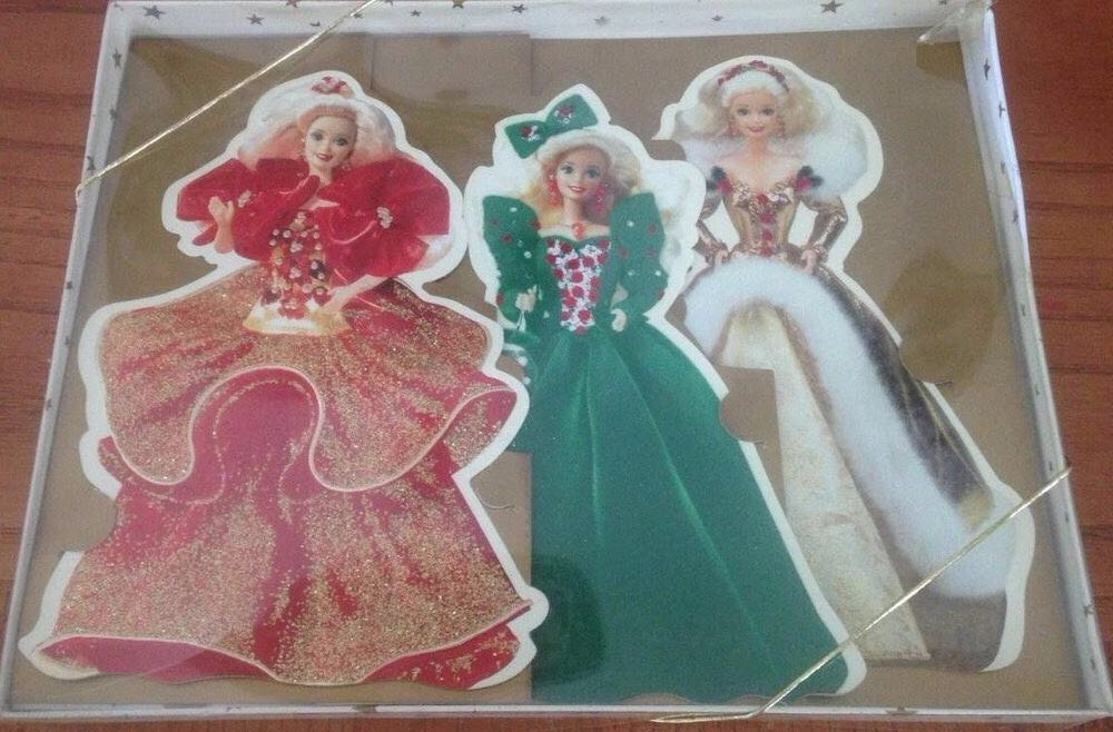 Holiday Barbie Collection Cards Doll And Barbie (1995) back image (back cover, second image)