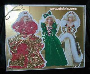 Holiday Barbie Collection Cards Doll And Barbie (1995) front image (front cover)