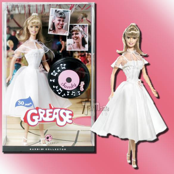 2008 Barbie Grease Sandy Dance Off White Prom Dress M3254 Doll And ...