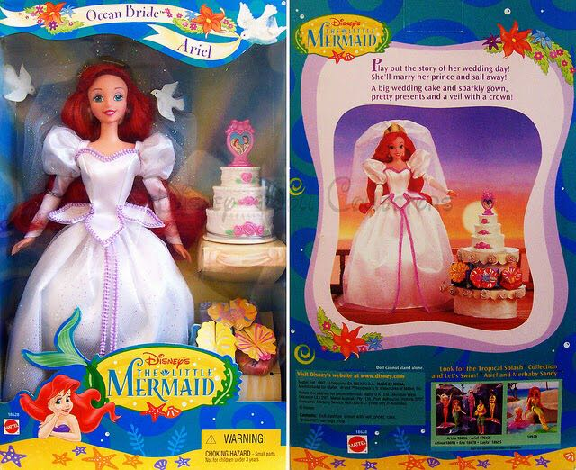 Ocean Bride Ariel Doll And Barbie (1997) back image (back cover, second image)