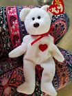 Rare Ty Valentino Beanie Baby Bear With Errors. Beanie Baby front image (front cover)