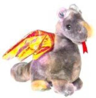 Scorch Buddy Beanie Baby - Brown front image (front cover)