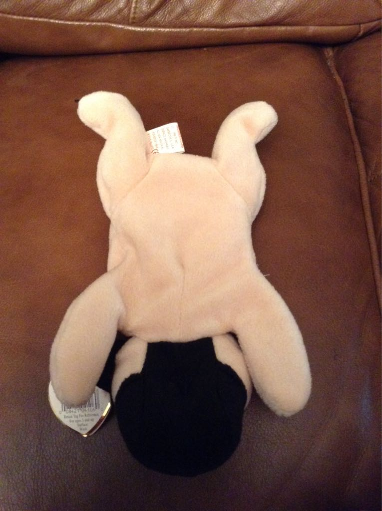 Pugsly Beanie Baby - Yellow back image (back cover, second image)