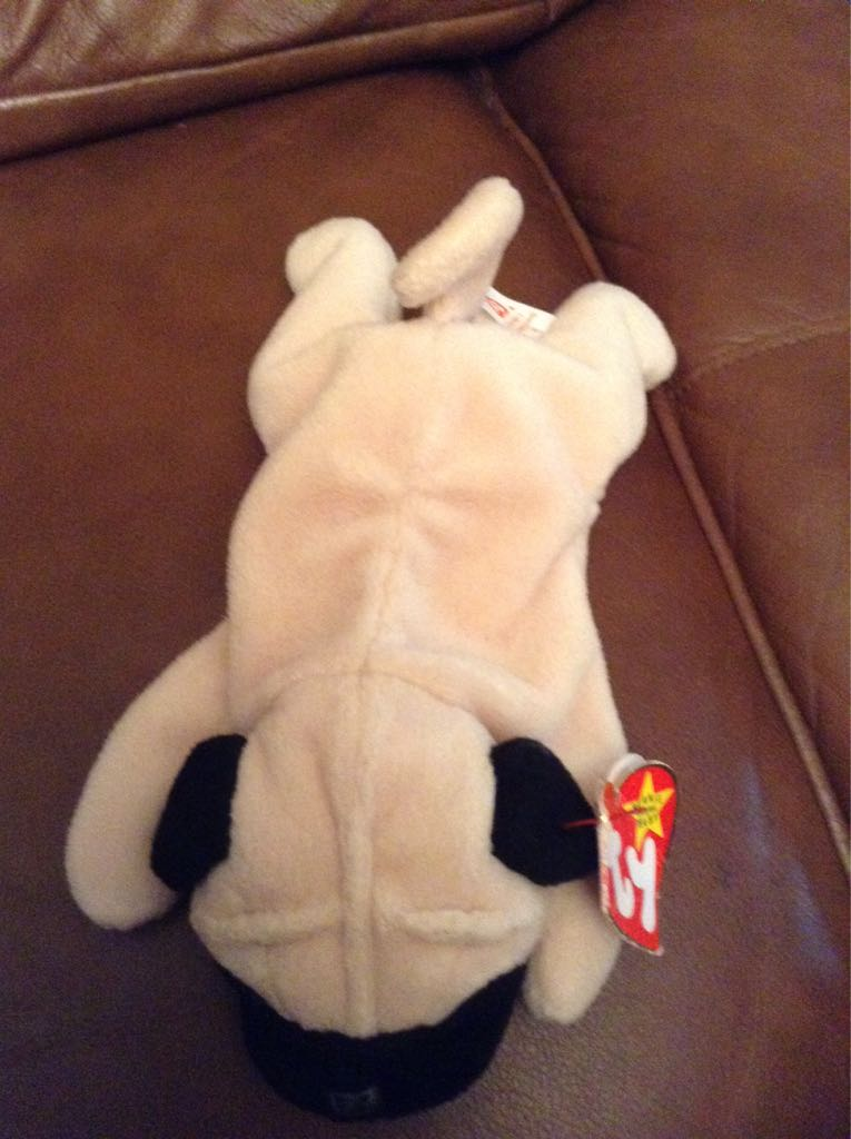 Pugsly Beanie Baby - Yellow front image (front cover)