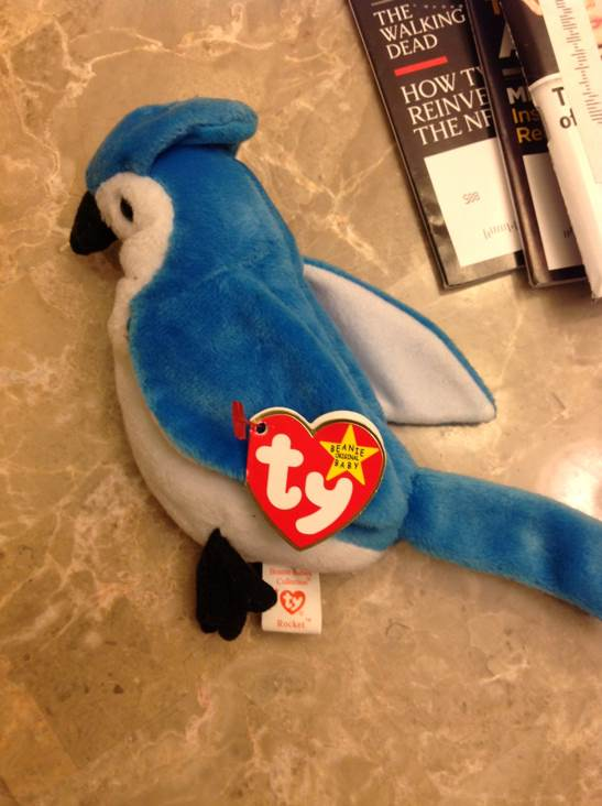 Rocket Beanie Baby - Blue (4802) front image (front cover)