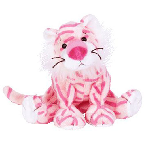 Mystique the Tiger Beanie Baby - Pink front image (front cover)