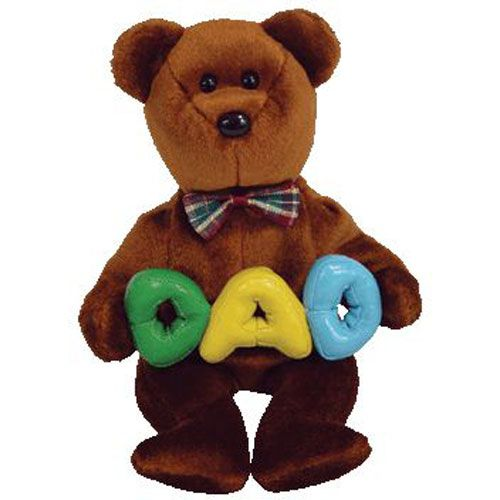 DAD the Bear (TY Store) Beanie Baby (40230) front image (front cover)