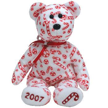 Candy Canes The Bear (White Version) Beanie Baby - Pattern front image (front cover)