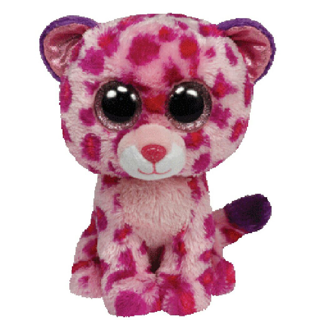Glamour the Leopard (Large Beanie Boos) Beanie Baby - Pink (36811) front image (front cover)