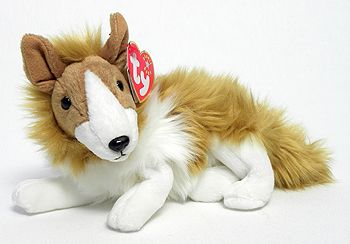 Cassie The Collie Beanie Baby - Brown (4340) back image (back cover, second image)