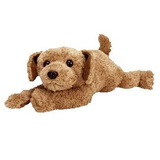TY Classic Plush - SCOOTER the Dog Beanie Baby - Brown (2033) front image e7979ba35b1