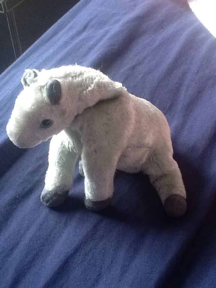 Lightning The Horse Beanie Baby - Gray (04537) back image (back cover 2d401fa34f4