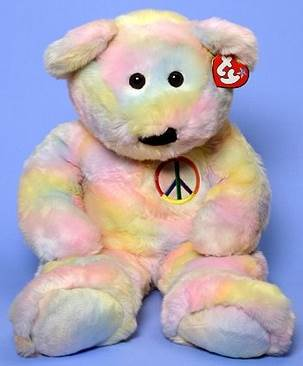 Ty Beanie Buddy - Extra Large Peace The Bear Beanie Baby - Pattern (9036) 34421939ffa
