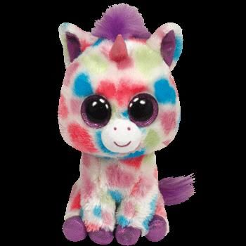 a3bce357424 Wishful The Unicorn Ty Beanie Boo Beanie Baby - Pattern (36082) front image  (