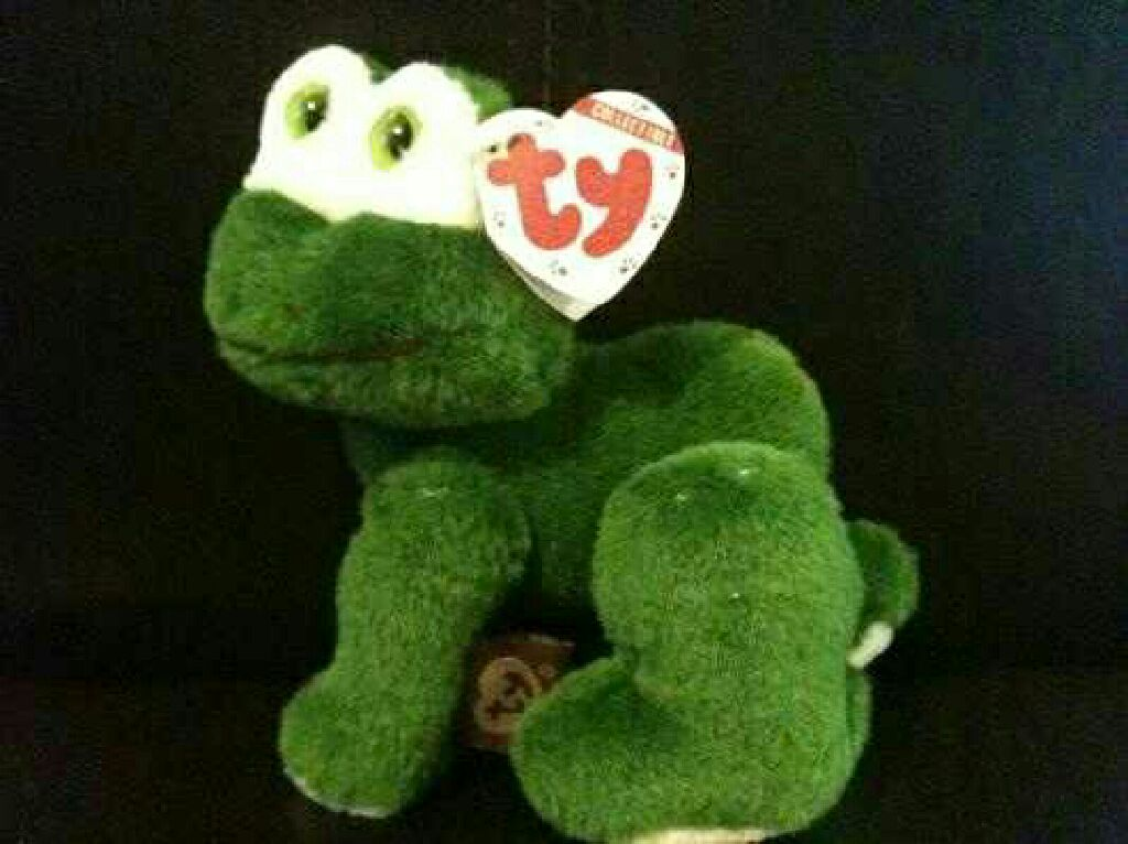 Prince the frog Beanie Baby - Green (6048) front image (front cover) eb7a2bfc8eb
