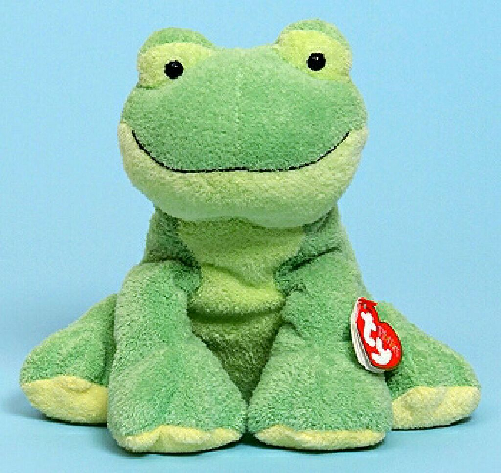 Leapers the frog Beanie Baby - Green (32076) front image (front cover) 02228b24a6b