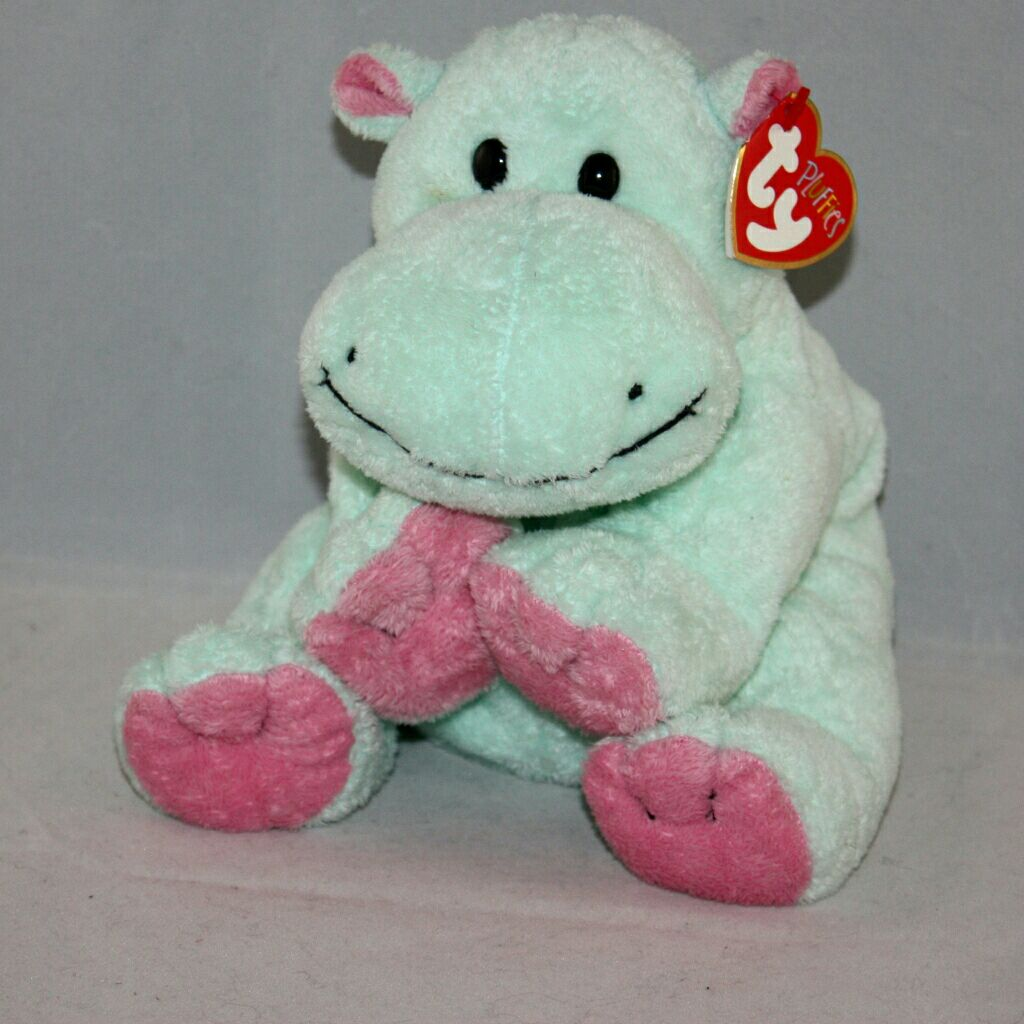 Tubby the hippo Beanie Baby - Green (3232) front image (front cover) 4180f175a38
