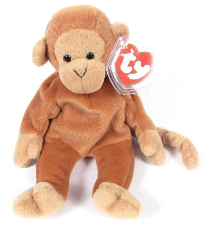 Nana Beanie Baby - Brown (4067) - from Sort It Apps