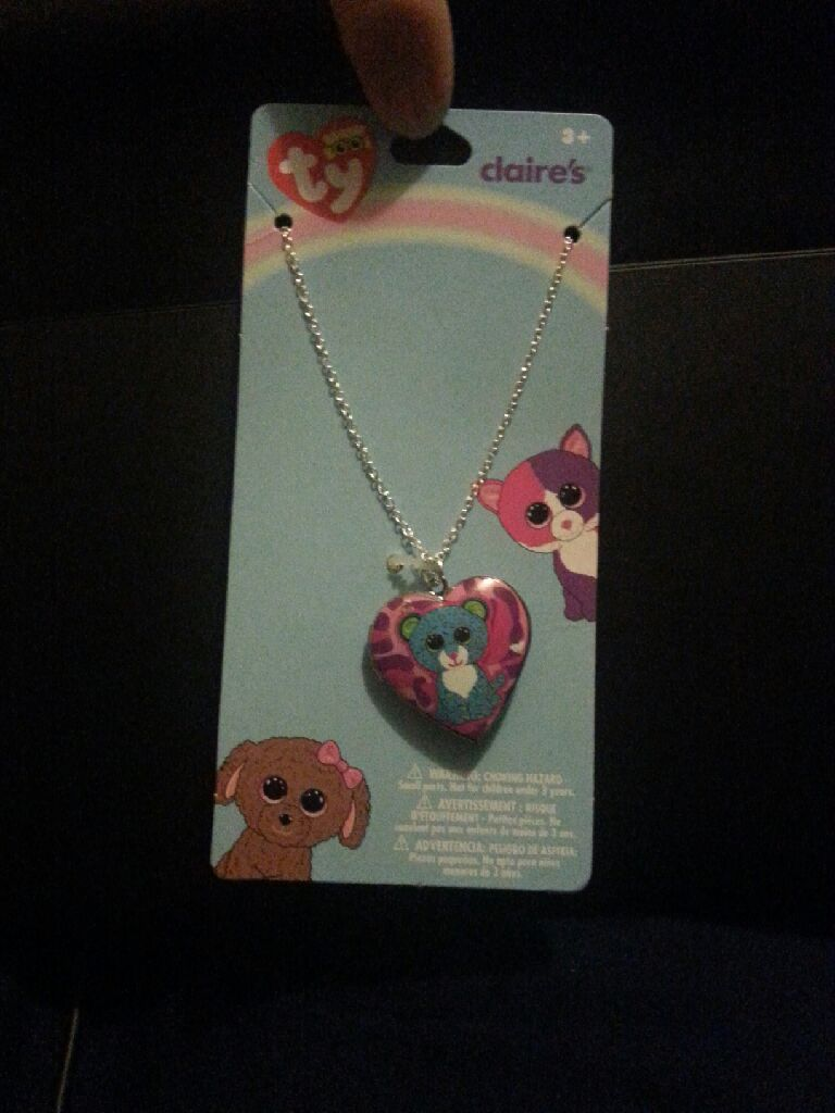 f922a54b2ef Jewelry - Beanie Boo Leona Locket Necklace Beanie Baby front image (front  cover)