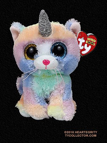 Heather The Unicorn Cat - Beanie Boo Beanie Baby - Pattern front image  (front cover 5d8e620878a