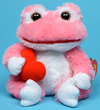 Lovey The Frog Beanie Baby - Pink front image (front cover)