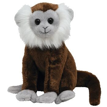 Jungle the Monkey Beanie Baby - Brown front image (front cover)